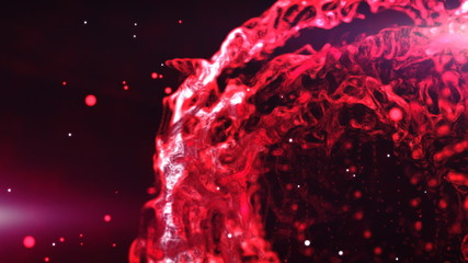 Red plasma sphere