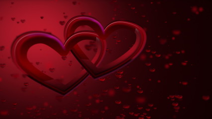 Romance Background. Two Hearts