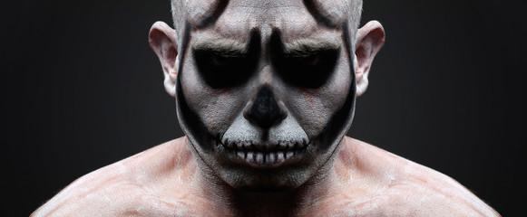 Face skull portrait