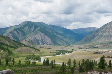 the river in the Mountains of Altai