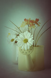 Flowers in Watering Can - Retro