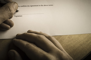 Signing Document - Austere Light