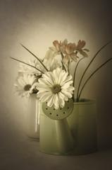 Flowers in Watering Can - Vintage