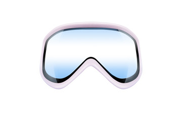 ski goggles with reflection