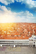 Venice city panorama from above