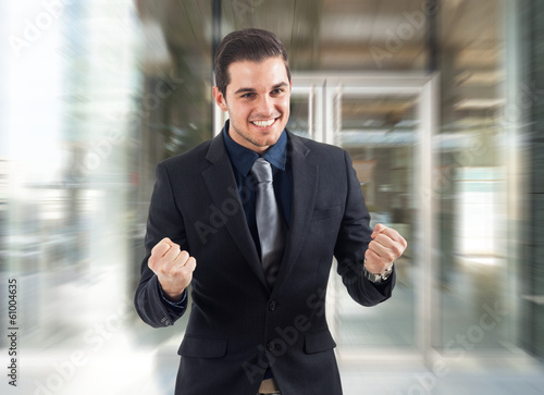 Very happy businessman