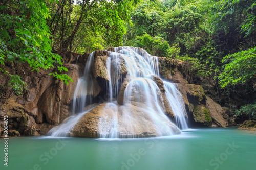 Waterfall, Kanchanaburi, Thailand - 61004873