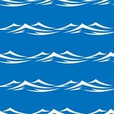 Seamless pattern with sea waves