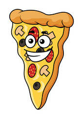 Cute slice of cartoon pizza