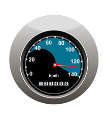 Car speedometer showing someone speeding