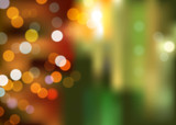 Abstract bokeh background at night new year for business