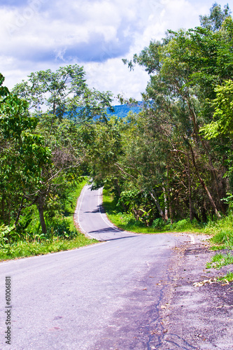 country road thailand