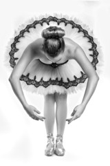 Ballet Dancer in Traditional Pancake Performance Outfit