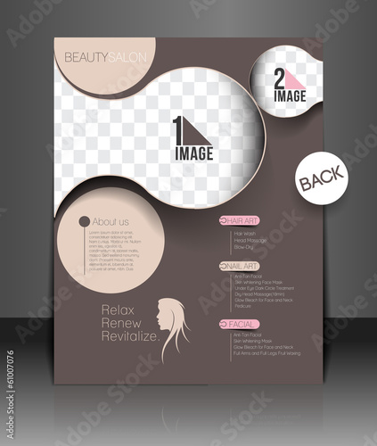 Beauty Care & Salon Back Flyer & poster Template