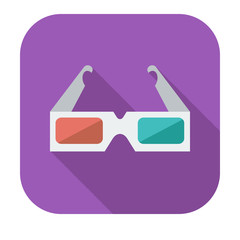 Glasses 3D single icon.