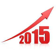 2015 growth red arrow