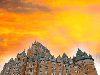 Majesty of Chateau de Frontenac - Quebec City ancient castle