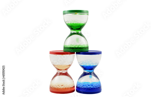 Group of hourglasses