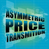 business concept, asymmetric price transmition touch screen
