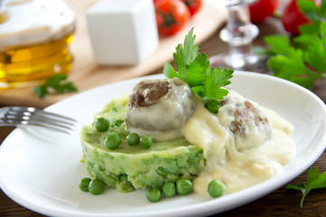 Swedish meatballs in a creamy sauce