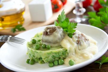 Swedish meatballs in a creamy sauce