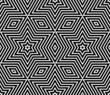Materiał do szycia Seamless geometric texture. Stars pattern.