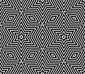 Seamless geometric texture. Stars pattern.
