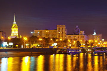 View of Moscow in summer  night