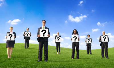 Business People with Question Marks