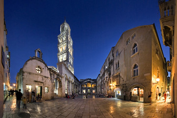 Peristyle, main square of Diocletian palace, extra wide view