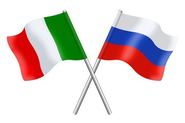 Flags: Russia and Italy