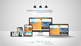 Modern devices mockups fpr your business projects. poster
