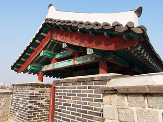 Bukdong Poru of Hwaseong Fortress in Suwon, South Korea