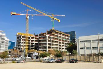Construction site in  office buildings area in Herzlia.