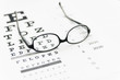 Glasses on eye chart - 61013469