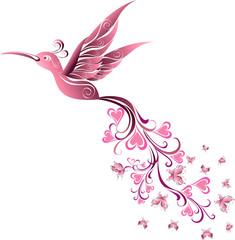 Tattoo Hummingbird. Vector