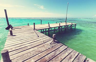 Boardwalk on beach
