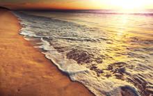 morze zachód słońca