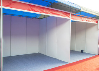 Empty exhibition booth