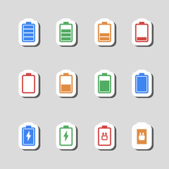Battery Icons Set as Labes