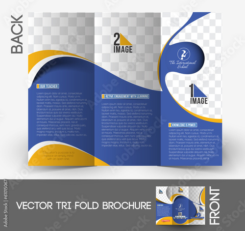 The International School Tri-Fold Mock up & Brochure Design