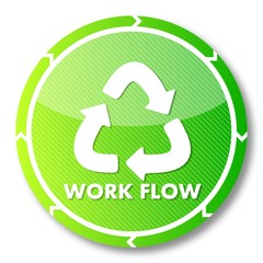 sustainable workflow icon