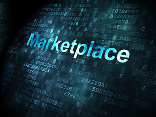 Marketing concept: Marketplace on digital background