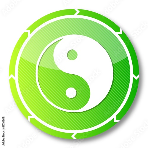 sustainable ying yang symbol