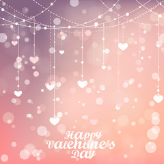 Magical background with colorful bokeh. Happy Valentines day.