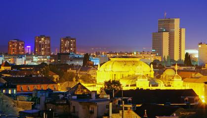 Zagreb city at night - Croatia