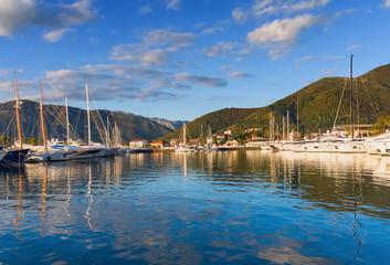 Sky,clouds and sea. Porto Montenegro. Tivat, Montenegro