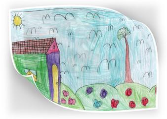 Disegno colorato di fanciullo