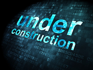 SEO web development concept: Under Construction on digital