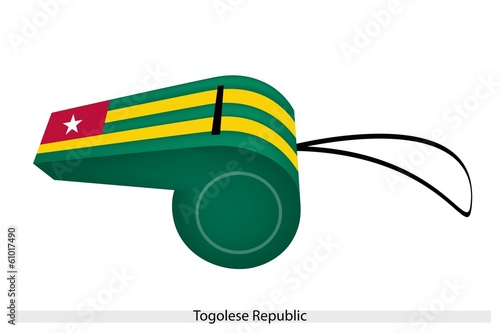 A Whistle of The Togolese Republic Flag